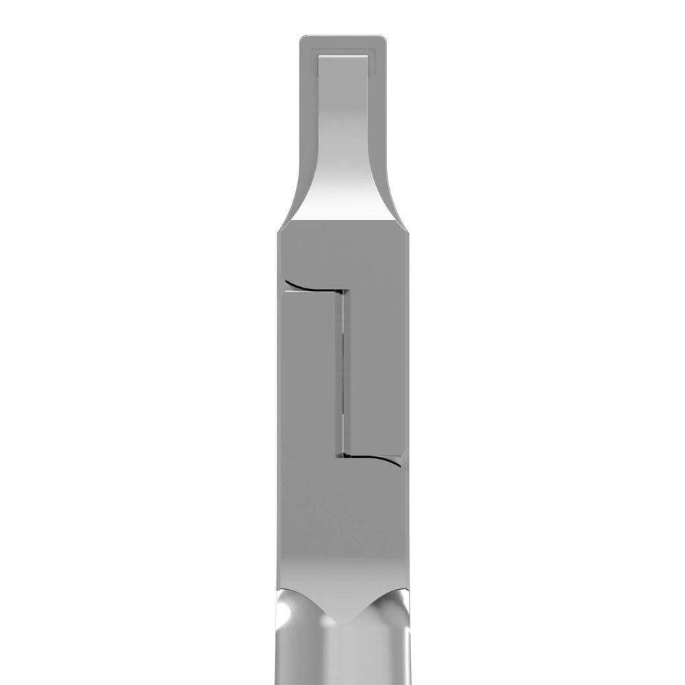 Oscident Zange #3, Prägung horizontale Vertiefung